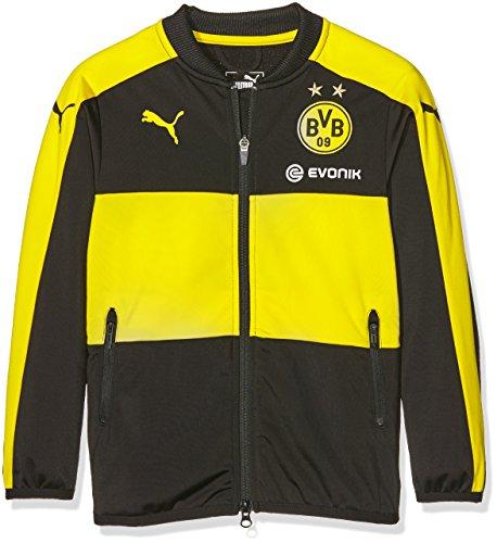 Puma Kinder Jacke BVB Poly Jacket with Sponsor Logo, black-cyber yellow, 176, 749873 01