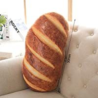 Garciakia Funny Bread Pattern Pillow Soft Massage Neck Back Pillow PP Cotton Filler Health Care Pillow Comfortable Back Sofa Cushion(Color:butter bread)