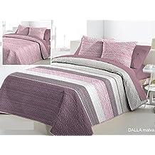 Fundeco Colcha Bouti DALLA cama 150 - Color Malva