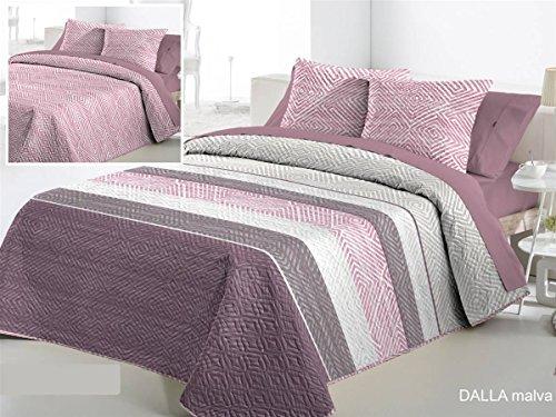 Fundeco Colcha Bouti DALLA cama 135 - Color Malva