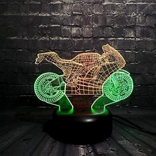 SanQ-Seven Kühle Illusion Tischdekoration 3D LED Nachtlicht Motorrad Auto 7 Farbe USB ändern Junge Geschenk Schlafzimmer Stimmung Glanz Kinder @ 11