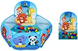 #6: Baby Grow Kids Ball Pit Playpen Toddler Play Tent Sea Ball Pool with Mini Basketball Hoop (with 30 Ball)