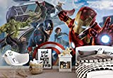 Marvel Avengers Team - Wallsticker Warehouse - Fototapete - Tapete - Fotomural - Mural Wandbild - (3363WM) - XXXL - 416cm x 254cm - VLIES (EasyInstall) - 4 Pieces