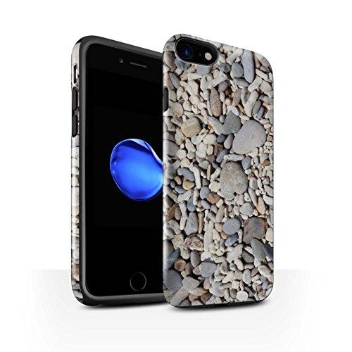 STUFF4 Glanz Harten Stoßfest Hülle / Case für Apple iPhone 7 / Pack 15pcs / Stein/Rock Kollektion Glatte Kiesel