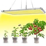Bozily Pflanzenlampe LED, Sonnenähnliche Vollspektrum, Klappbare Pflanzenlampen, 338 LEDs, 300W, für Verschiedene Zimmerpflanzen, 56x30 x1,8cm