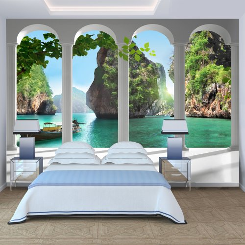 Wallpaper 300x210 cm non woven murals wall mural photo 3d modern nature landscape 10110903 13