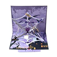Horror Spiders 3D Popup Halloween Card with Envelope Trick Or Treat Greeting Card Halloween Party Invitations