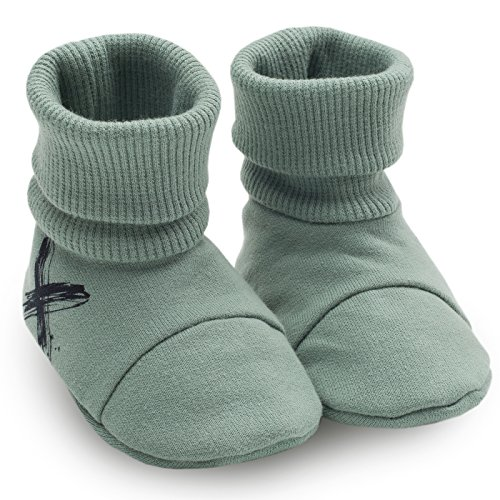 Pinokio -Xavier- Baby Schuhe - Dunkelblau/Schwarz oder Türkis - Neugeboren Puschen - Erstausstattung - Krabbelschuhe, Hausschuhe Jungen Jungs Türkis