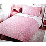 Single Bed 100% Cotton Percale Butterfly Duvet set - Pink