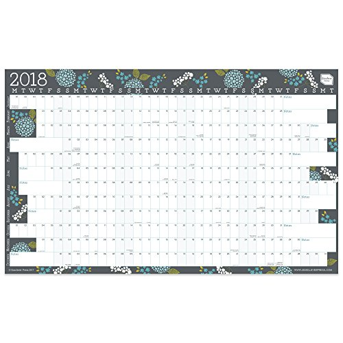 NEW Boxclever Press 2018 Year 12 Month Large Wall Planner Wall