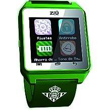 SMARTWATCH BETIS. Reloj inteligente con Bluetooth. Podómetro, Fitness, banda ajustable, con pantalla táctil para Smartphones