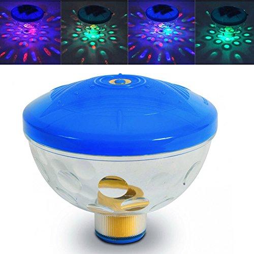 Unterwasser-LED-Licht, Unterwasser-LED-Disco schwimmende Lichtshow schwimmen Teich Spa Lampe für Halloween Weihnachten, Party, Hochzeitsdekorationen oder DIY Geschenk (Mehrfarbig) (Spa Splash)