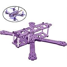 DroneAcc QAV220 Carbon Fiber Frame FPV Racing Drone Quadcopter Frame kit Like GEP220 TX5 X210 QAV-X 220 QAV-R 250(purple)