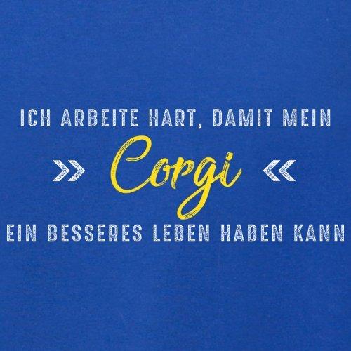 Ich arbeite hart, damit mein Corgi ein besseres Leben haben kann - Herren T-Shirt - 12 Farben Royalblau