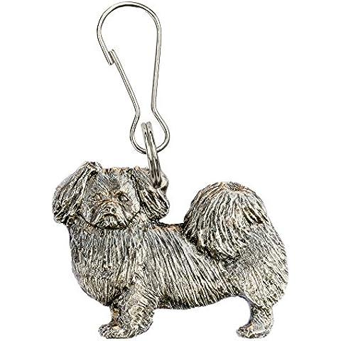 Spaniel del Tibet Hecho en Reino Unido Artístico Perro Cremallera Colección