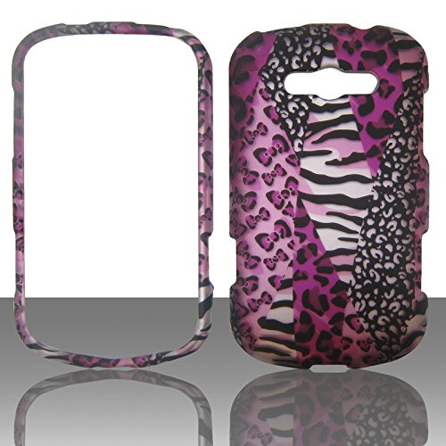 Virgin Lg Mobile (2D Pink Safari Samsung Galaxy Reverb M950Virgin Mobile Schutzhülle Hard Phone Cover Case Protector Blenden zum Aufstecken)