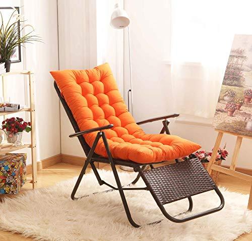 Indoor Outdoor Lounge Stuhl Kissen,Wicker Kissen,verdickt Weich Sitzpolster Für Chaise Bank Liege(Stuhl Nicht Enthalten)-orange 125x48x8cm(49x19x3)