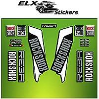 "Pegatinas HORQUILLA ROCK SHOX REBA 2016 ELX22 STICKERS AUFKLEBER AUTOCOLLANT DECALS BICICLETA CYCLE MTB BIKE 29"" (BLANCO/ WHITE)"