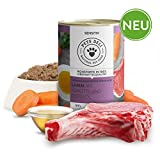 PETS DELI - NATURAL PET FOOD Hundefutter nass 2,4 kg - 6er-Pack | Premium-Qualität | Lamm mit Karotte und Distelöl | Nassfutter für Hunde mit 70% Fleischanteil, getreidefrei und ohne unnötige Zusätze