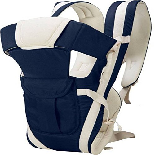 Ineffable  Baby Carrier Comfortable Support with Belt Baby Carrier  (Dark Blue, Front Carry Facing Out)