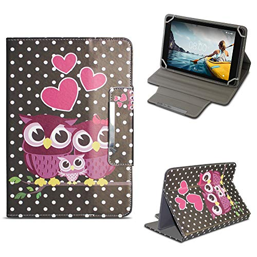 NAmobile Tablet Tasche kompatibel mit Medion Lifetab E10414 Hülle Schutzhülle Case Magnet Cover Stand, Farben:Motiv 5 -