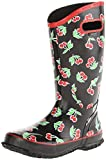 Bogs Ladies Lightweight Wellington Boots Size UK 4-9 Wellies Rainboot Fruit 71714-Black-UK 6.5 (EU 40)