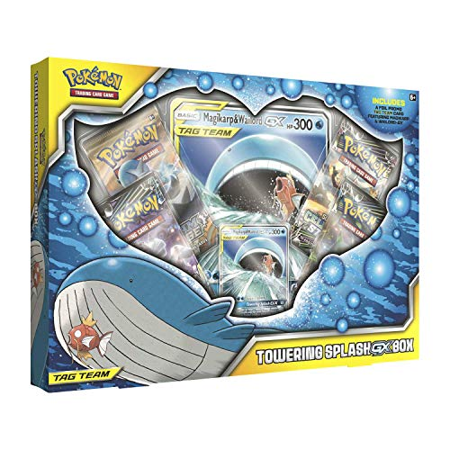 Pokémon POK80378 TCG: Towering Splash-GX Box, Mehrfarbig (Booster Pack Box)