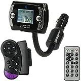 QUMOX Lecteur MP3 de voiture sans fil Bluetooth Transmetteur FM Modulator USB SD LCD à distance