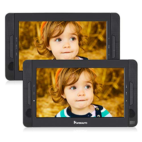 10 Zoll Dvd Player Auto 2 Monitore Tragbarer Dvd Player Kopfstütze Auto Fernseher 2 Bildschirme Kopfstützenmonitor 5 Stunden Akku 1014