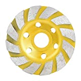 Disco Diamante Para Esmerilado de Concreto De 100 Mm / 4 Pulg Rueda de Lija Para Lijar Cemento de Granito de MáRmol Cemento de Piedra Y Pulido de CeráMica