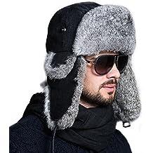 Ferand Cappello Unisex Adulto Trapper con Pelliccia di Coniglio para Sci  Snowboard Inverno e20f8c4d8b7f