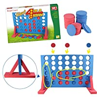Guaranteed4Less Kids Large Giant 4 In A Row Game Garden Indoor Outdoor Family Set