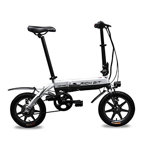 Bici elettriche Bici pieghevoli BMX Bici da strada Per Donne Uomini Giovani teenager Bici da città 250W*36V l'acceleratore a Manopola sul Manubrio Freni a V Brakes 14 Pollici Super leggero Peso Piccola Ruota Mini Forma dopo Pieghevole Richbit RT-618 2016 Nuova Aggiornata
