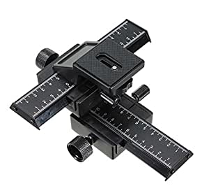Mcoplus -Plateau panoramic 3D - 4 Way Macro Focusing Rail Slider Truck for Nikon, Canon, Olympus, Pentax, Sony digital SLR