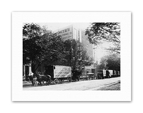 PHOTOGRAPHY BLACK WHITE SMITH TRANSFER STORAGE WASHINGTON DC TRADE HORSE Poster (Photography Smith Art)