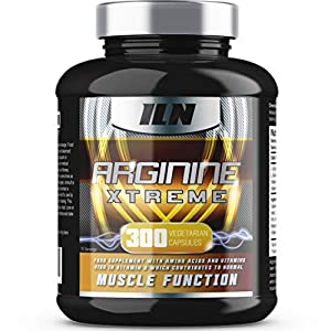51ZYPyTRzlL. SS300  - Iron Labs Nutrition, Arginine Xtreme XXL - 2,600mg x 75 Servings - L-Arginine supplement with Vitamin D for normal Muscle Function - 300 Capsules