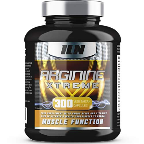 51ZYPyTRzlL. SS500  - Arginine Xtreme XXL (300 Capsules) - 2,600mg x 75 Day Supply - L-Arginine Supplement with Vitamin D for Normal Muscle Function - 300 Vegetarian Capsules