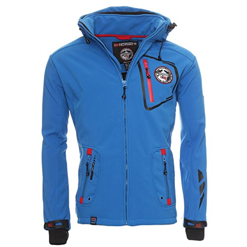 92C4 Geographical Norway Tacebook Herren Softshell Blau Gr. XL
