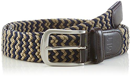 MLT Belts & Accessoires Herren Gürtel Bali, Mehrfarbig (navy taupe 1028), 110 cm (Herren-gürtel Casual)