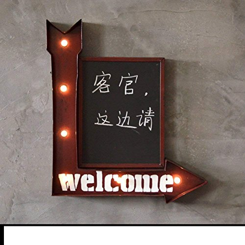 SED Dekorationen-American villageblackboard Message Board oder Board Wandmontage Typ Dekoration,B - Keramik-message Board