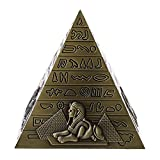 MagiDeal Metal Handicrafts Egyptian Pyramids Building Model Home Bookshelf Ornament Bronze