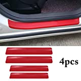 #7: Fansport 4PCS Car Sticker Universal Anti-Scratch Door Sill Car Decal Car Sticker Decal
