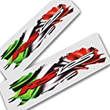 Aprilia RS 125?Torn Bandera de Italia Diseño Gráficos Pegatinas Pegatinas X 2