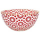 GreenGate STWBOWWMKEL1006 Kelly Bowl Red with Gold Medium 15,5 cm (1 Stück)