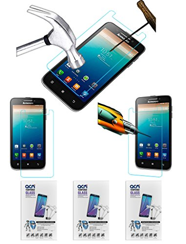Acm Pack of 3 Tempered Glass Screenguard for Lenovo S650 Screen Guard Scratch Protector  available at amazon for Rs.279