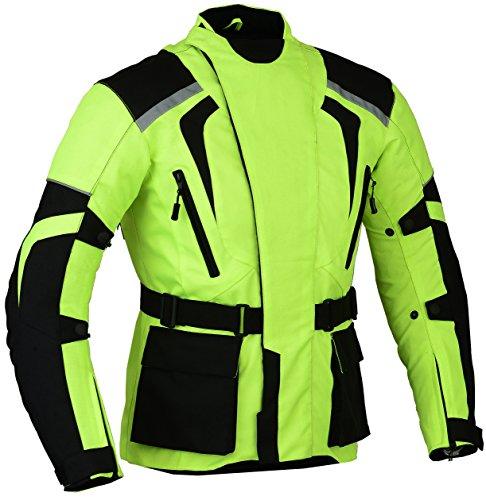 Grün Motorrad Jacke Hochsichtbare Wasserdicht und reflektierendes - grün, Grün, XXL