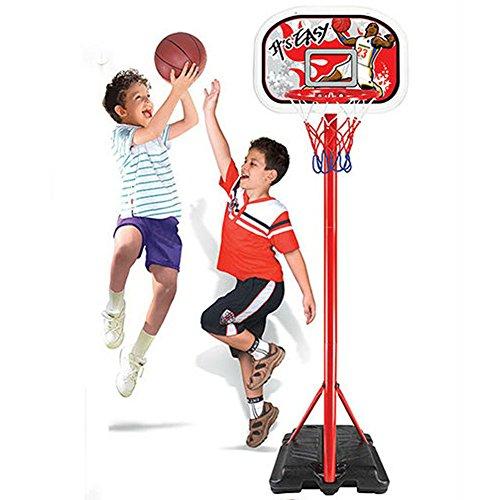 b5b0e005e8c5 Bakaji Basket Canestro a Piantana in Metallo per Bambini Altezza Regolabile  fino a 181 cm con Pallone e Gonfiatore Base in Plastica Riempibile con  Acqua o ...