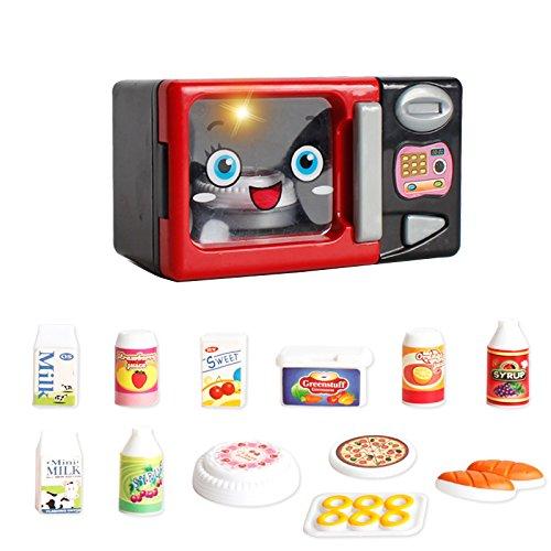 Homyl Kinder Küchen Elektrogeräte Geschirr Rollenspielzeug - Mini Kühlschrank / Elektroherd / Wasserkocher / Kochgeschirr / Mikrowelle / Staubsauger / Waschmaschine / Entsafter Kinderspielzeug - Mikrowelle
