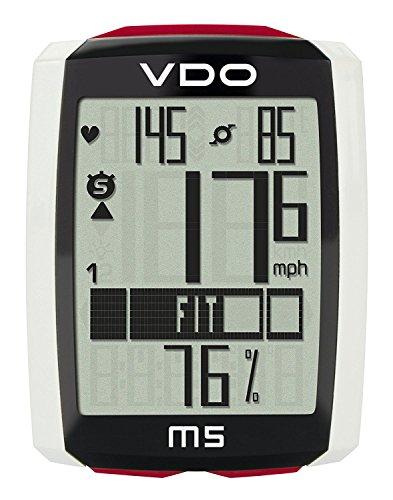 VDO VD55M5B00000000000, Ciclocomputer Unisex Adulto, Nero/Bianco/Rosso, 10 X 6 X 15 Cm