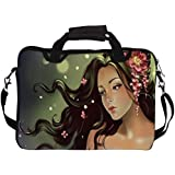 Snoogg Princess Girl 15 inch to 15.6 inch Laptop Notebook Slipcase Sleeve Soft Case Carrying Case for MacBook Pro Acer Asus Dell Hp Sony Toshiba